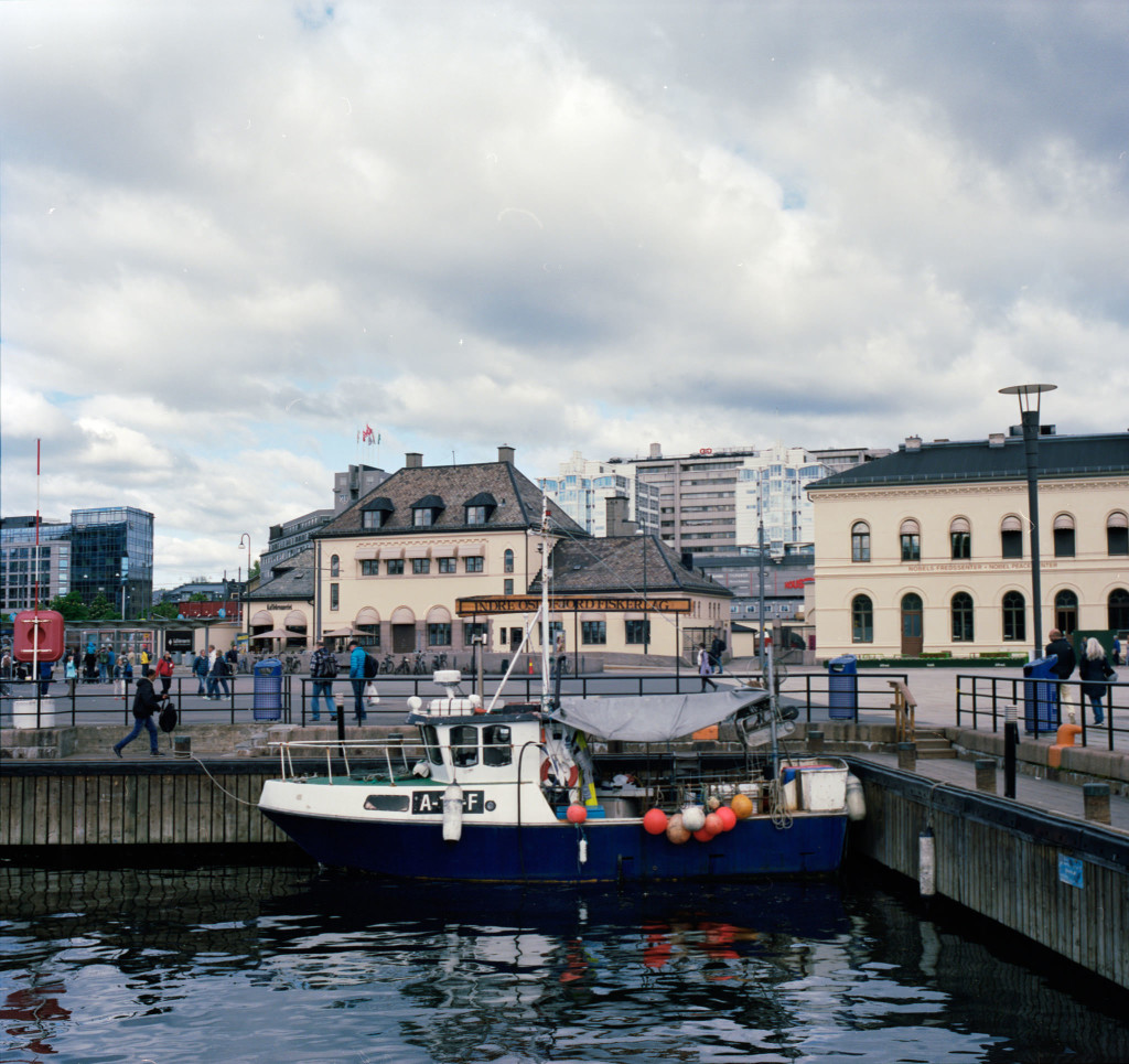 Oslo's main harbor is sandwiched between the revitalized Aker Brygge and the much older walled-in military fortress, Akershus Festning.