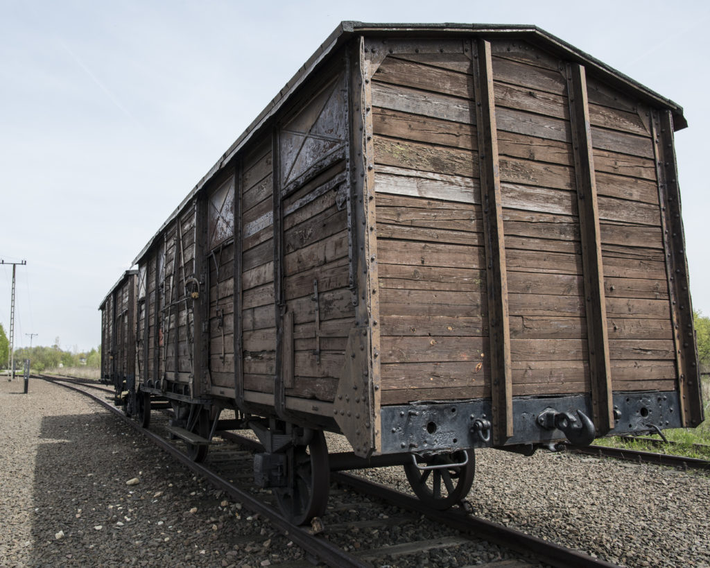 Cattle car that transported human prisoners to concentration camps